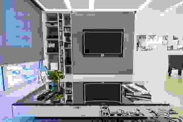 DEPARTAMENTO EN PARQUES POLANCO, CDMX Salas multimedia modernas de HO arquitectura de interiores Moderno