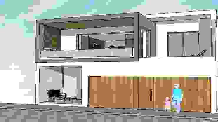 Edificio Bifamiliar Pon - fachada: Casas de estilo  por 1en1arquitectos,