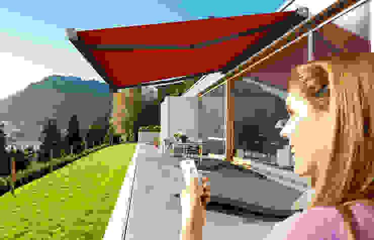 Rollomeister Modern Terrace Aluminium/Zinc Red