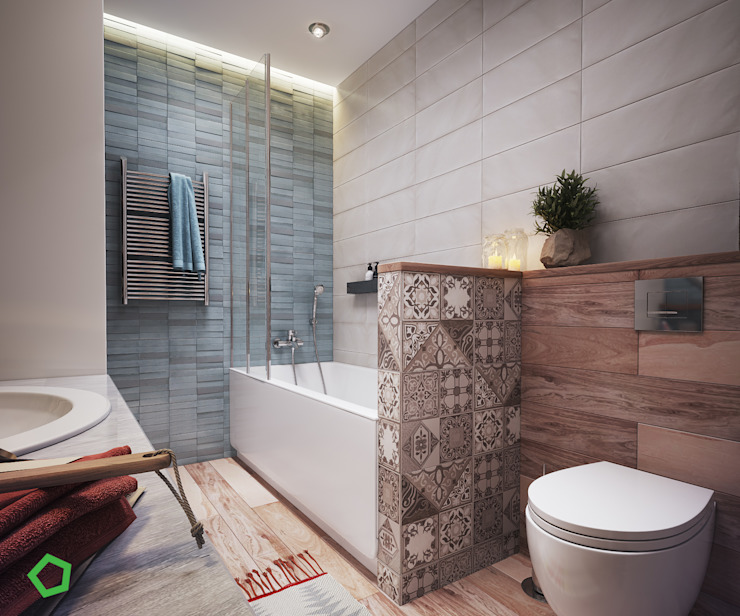 Bathroom Scandinavian style bathroom by Polygon arch&des Scandinavian