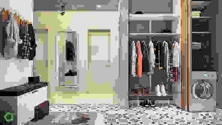 Pasillos, vestíbulos y escaleras de estilo minimalista de Polygon arch&des Minimalista