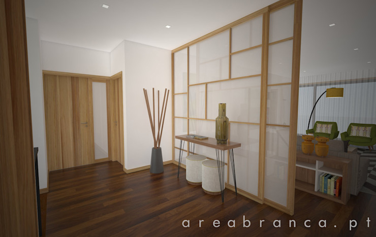 Hall Corredores, halls e escadas modernos por Areabranca Moderno