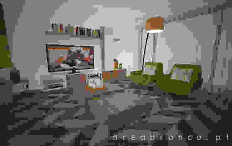 Sala e Cozinha Salas de estar modernas por Areabranca Moderno