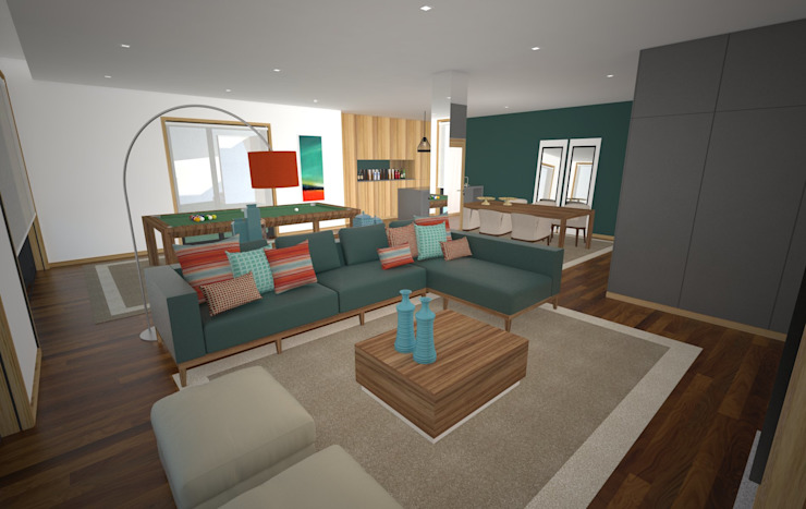 Sala Polivalente Salas de estar modernas por Areabranca Moderno