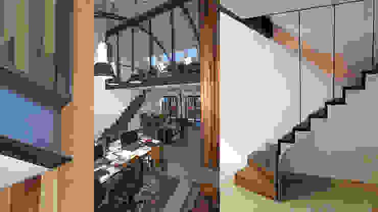 Loft in fabriekspand Industriële studeerkamer van Tijmen Bos Architecten Industrieel