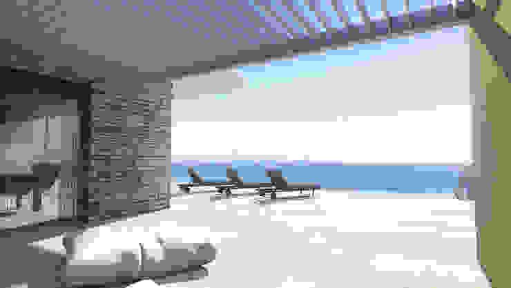 Modern style balcony, porch & terrace by ARRIVETZ & BELLE Modern