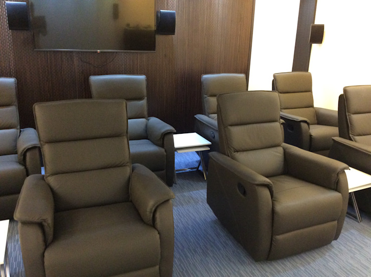 Recliners Image N Shape Office spaces & stores Leather Amber/Gold