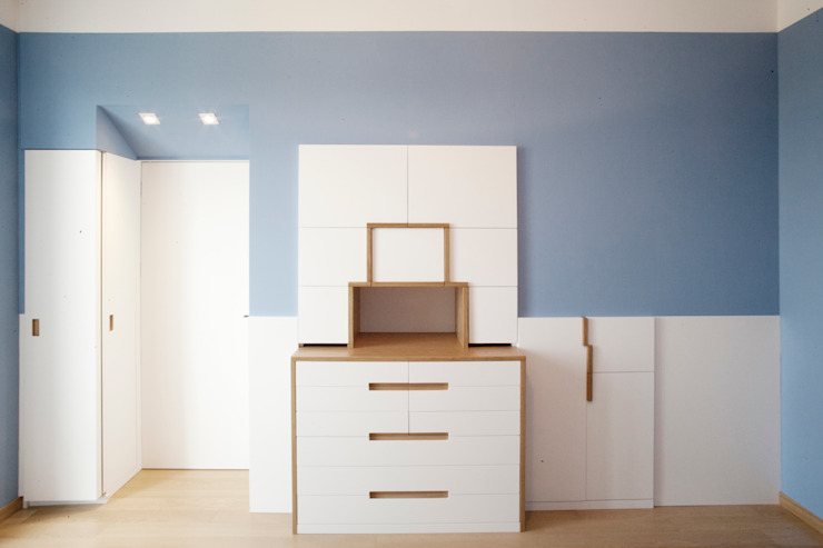 PAZdesign BedroomWardrobes & closets Blue