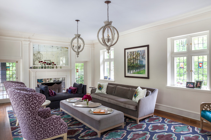 Living Room sophisticated and colorful Mel McDaniel Design Living roomSofas & armchairs
