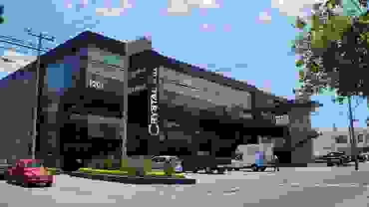 Plaza Crystal Casas modernas de Studio Glass Moderno Aluminio/Cinc