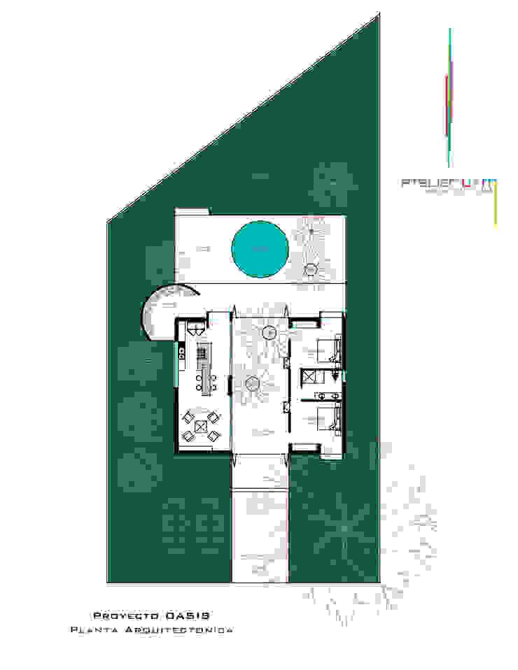 PO1 Casas minimalistas de Atelier U + M Minimalista Concreto