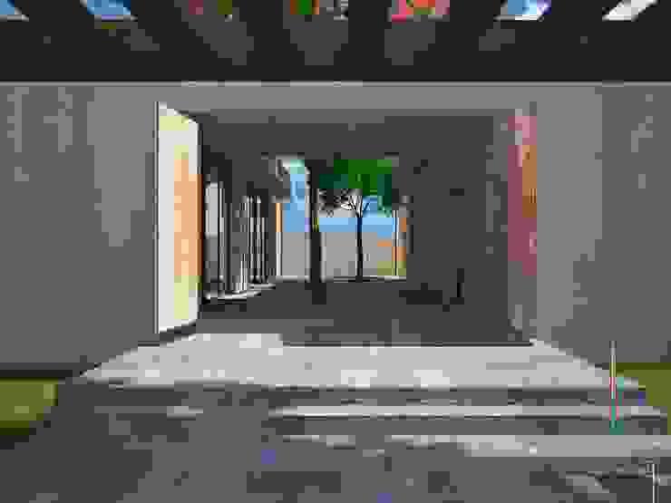 PO2 Casas minimalistas de Atelier U + M Minimalista Concreto