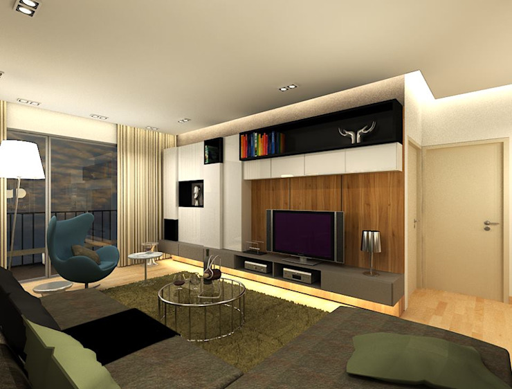The Sanderson Home Modern living room by inDfinity Design (M) SDN BHD Modern