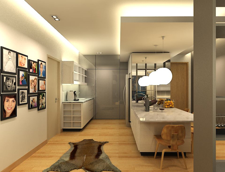 Modern dining room by inDfinity Design (M) SDN BHD Modern