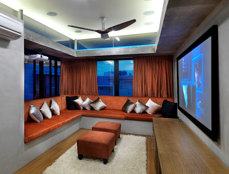 AV Room MJ Kanny Architect Modern style media rooms