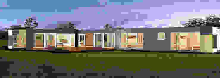 Casa prefabricadas, modular y portatil de Construcciones F. Rivaz Moderno Compuestos de madera y plástico