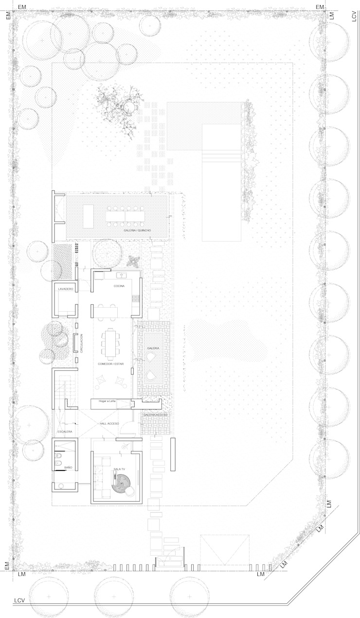 Planta Baja General de 1.61 Arquitectos Mediterráneo