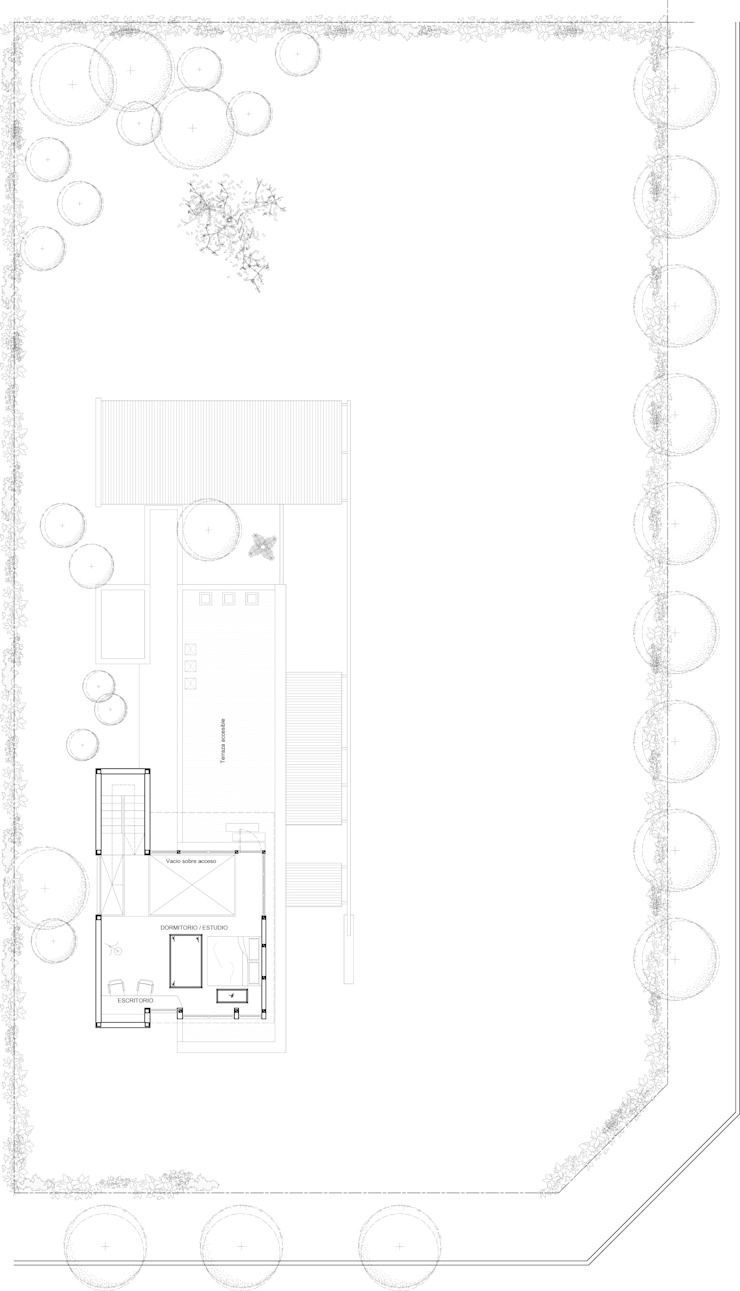 Planta Alta 1er Etapa de 1.61 Arquitectos Mediterráneo