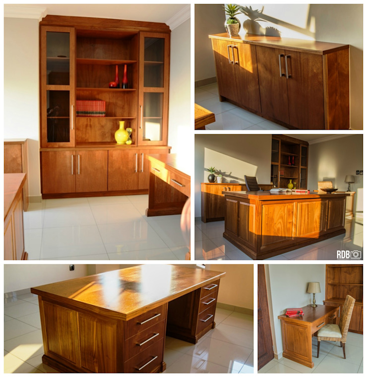 Classic style study/office by Ergo Designer Kitchens Classic Wood Wood effect