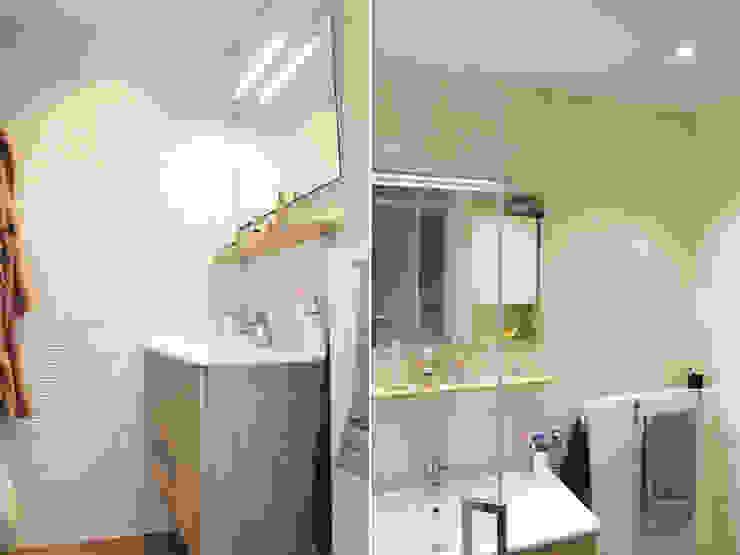 Baños de estilo moderno de Agence ADI-HOME Moderno Cerámico