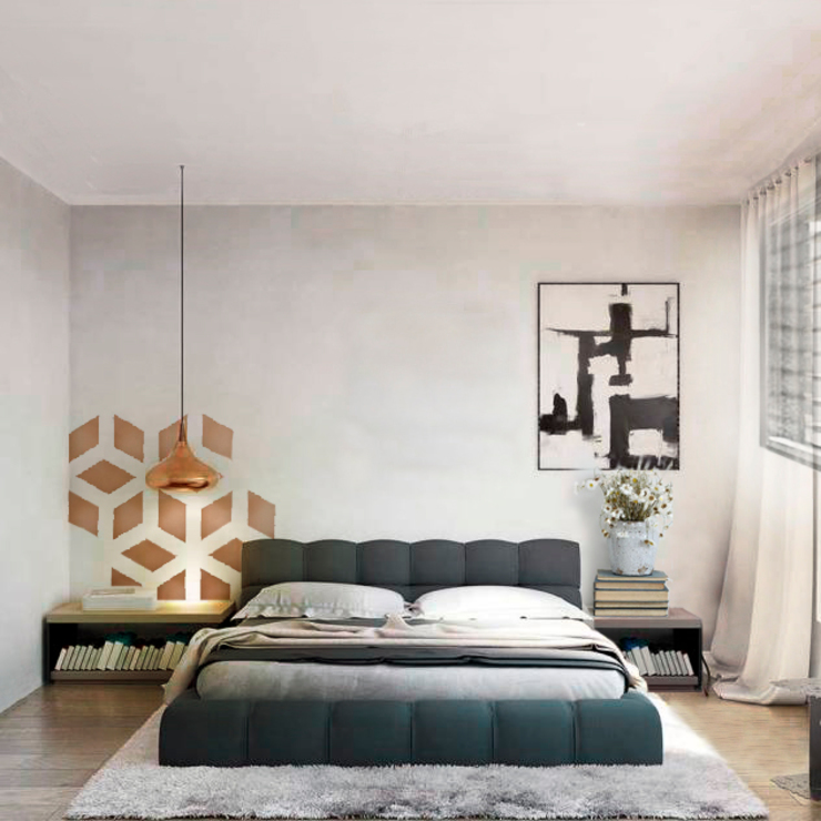 Modern style bedroom by COLECTIVO CREATIVO Modern