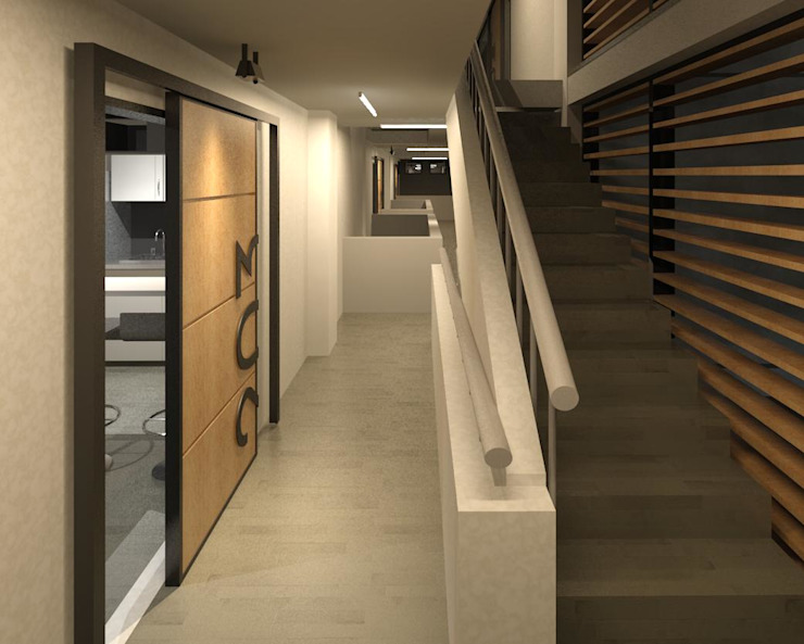 Modern Corridor, Hallway and Staircase by COLECTIVO CREATIVO Modern