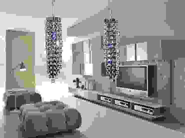 Riel Quadrel 2 luces de Goldencris Moderno