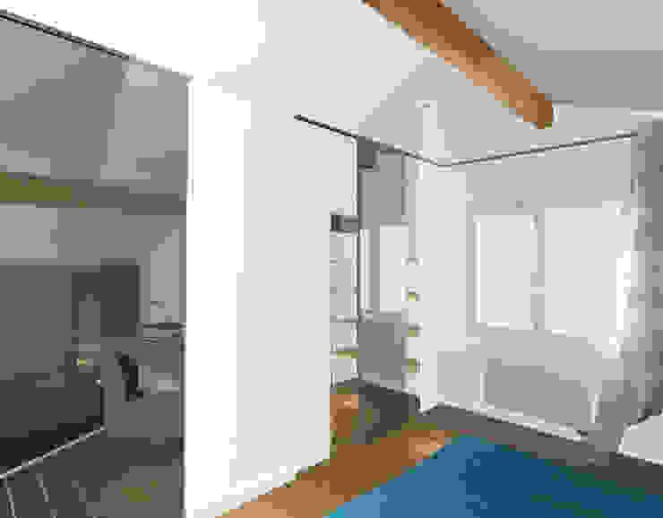 Chambre en mezzanine - esquisse 1 Chambre moderne par Kauri Architecture Moderne