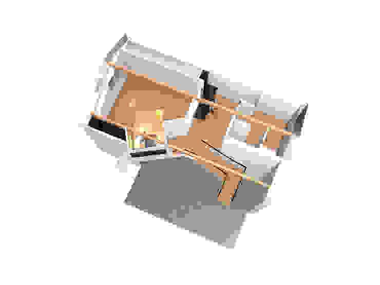 Chambre en mezzanine - esquisse 2 Chambre moderne par Kauri Architecture Moderne