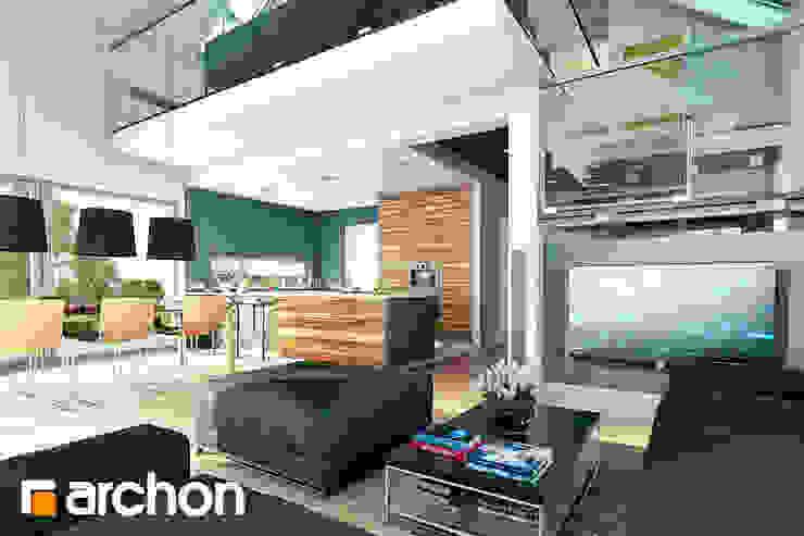 Salones de estilo moderno de ARCHON+ PROJEKTY DOMÓW Moderno