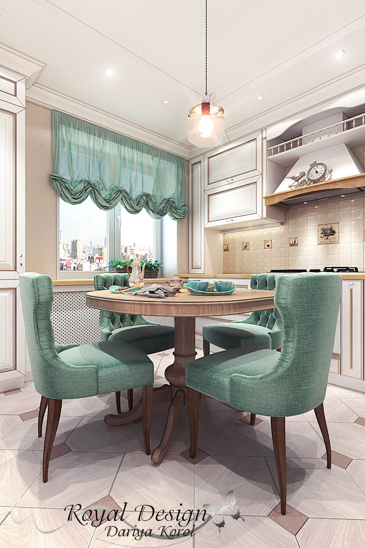 combined living room and kitchen Кухня в стиле кантри от Your royal design Кантри
