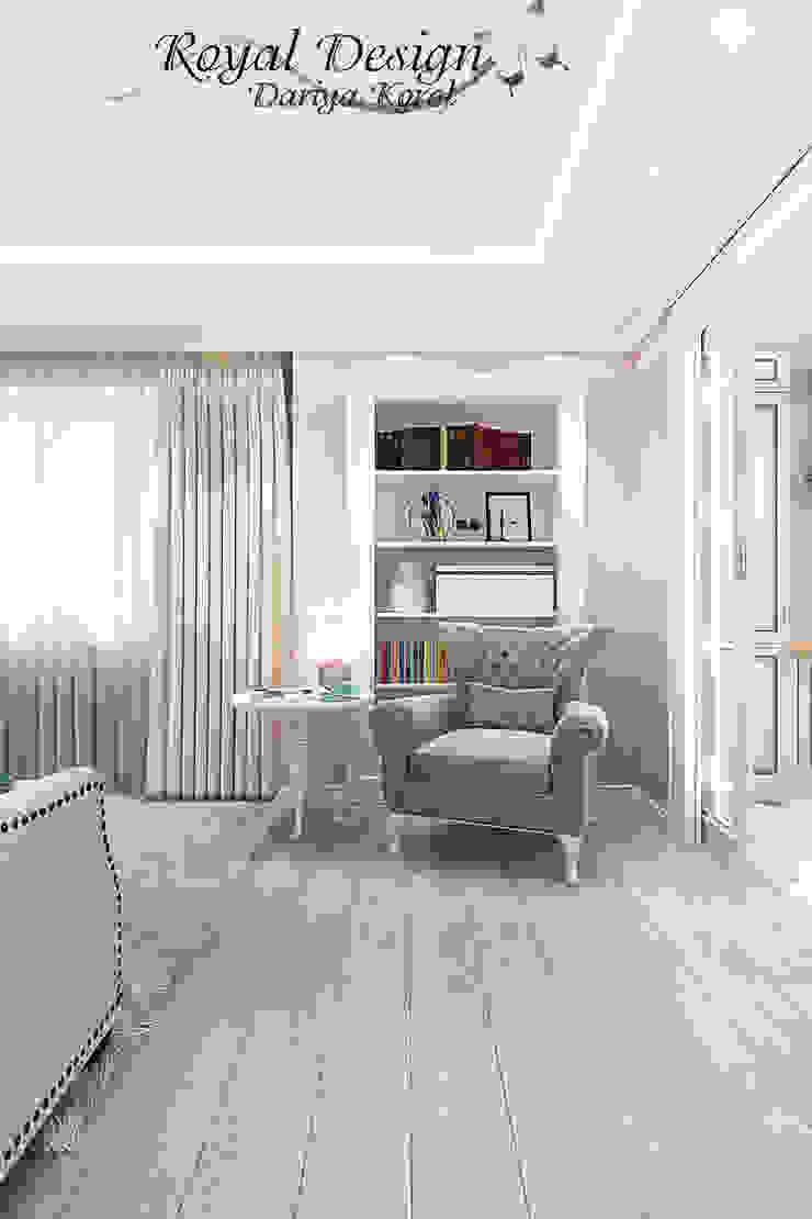 combined living room and kitchen Гостиная в стиле кантри от Your royal design Кантри