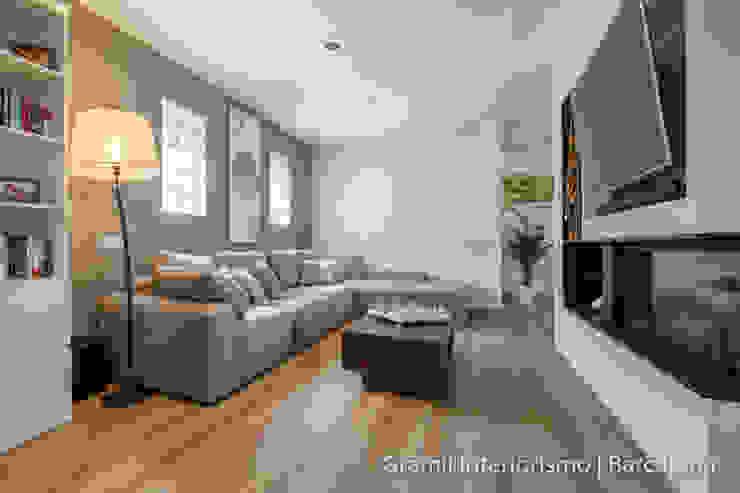 Vivienda en Cesalpina Salones de estilo moderno de Gramil Interiorismo II - Decoradores y diseñadores de interiores Moderno