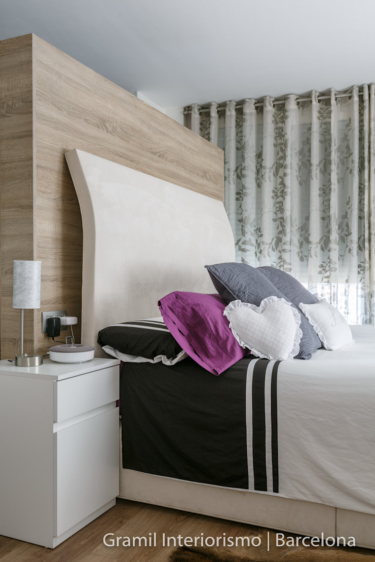 Vivienda en Cesalpina Dormitorios de estilo moderno de Gramil Interiorismo II - Decoradores y diseñadores de interiores Moderno