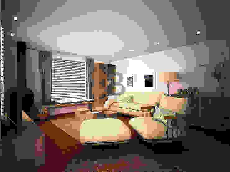 Renders. 3D. Sala de estar. Living room. de Brick Serveis d'Interiorisme S.L.