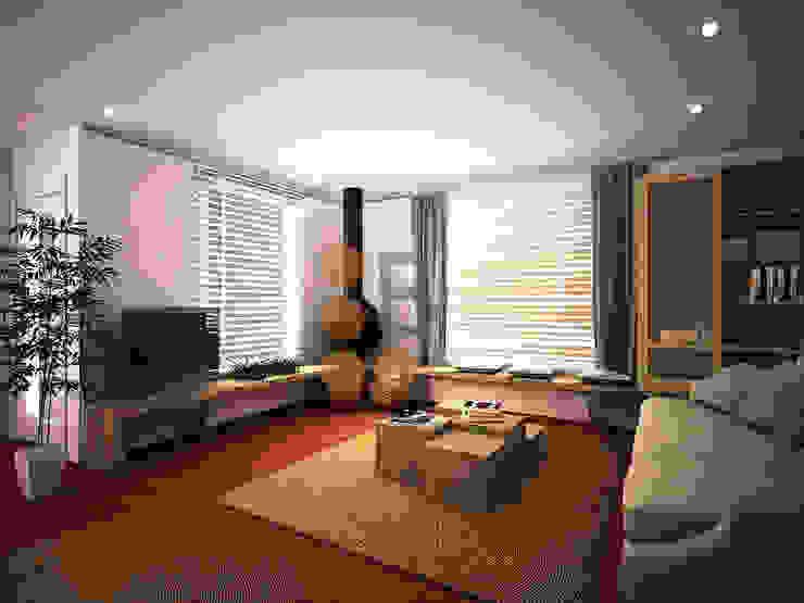 Renders. 3D. Sala de estar. Living room de Brick Serveis d'Interiorisme S.L.