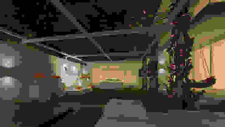 VILLA AT AMRITSAR (www.depanache.in) De Panache - Interior Architects Classic style garden Stone White