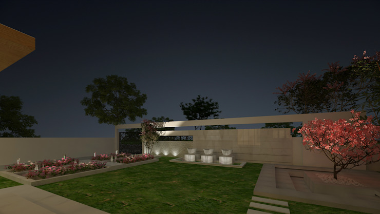 LANDSCAPE AREA VIEW Modern Garden by De Panache - Interior Architects Modern Stone