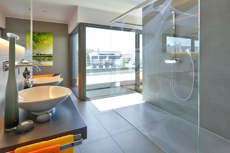 Projekty,  Łazienka zaprojektowane przez Büdenbender Hausbau GmbH,