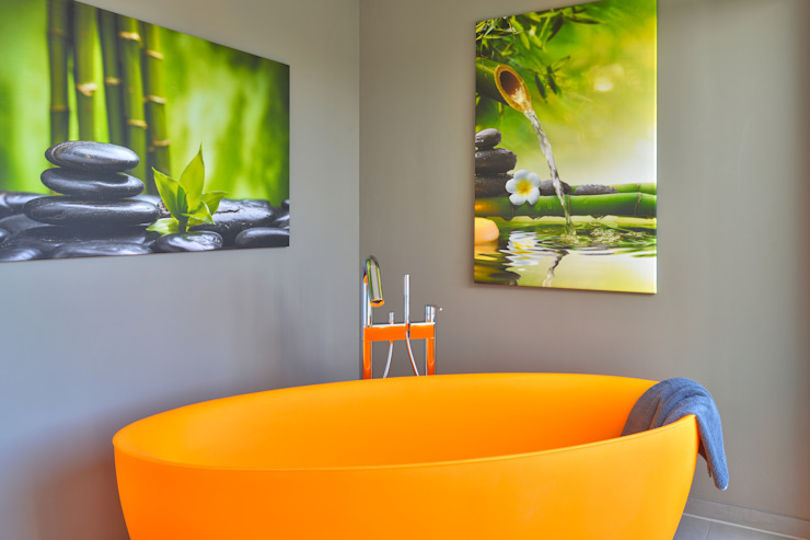 Salle de bains de style  par Büdenbender Hausbau GmbH, Moderne