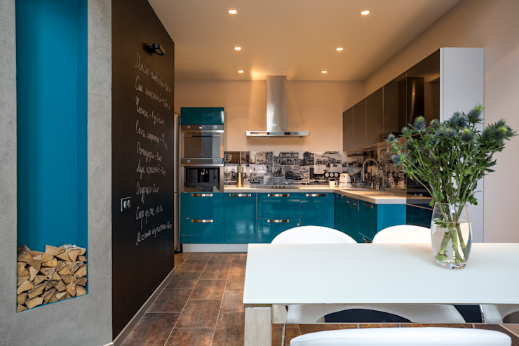 Кухня: Кухни в . Автор – Дизайн студия 'Декотренд', Лофт