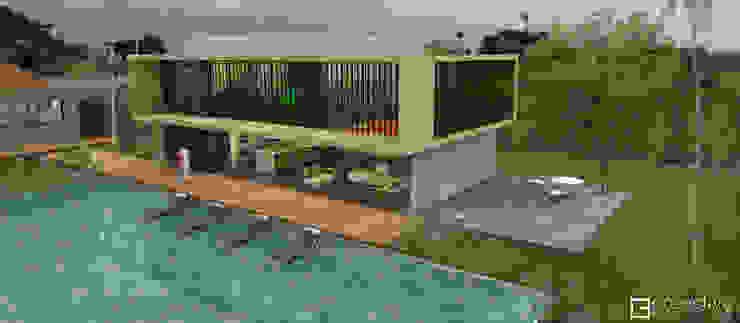 Casa La Morada HV Gimnasios de estilo moderno de COLECTIVO CREATIVO Moderno