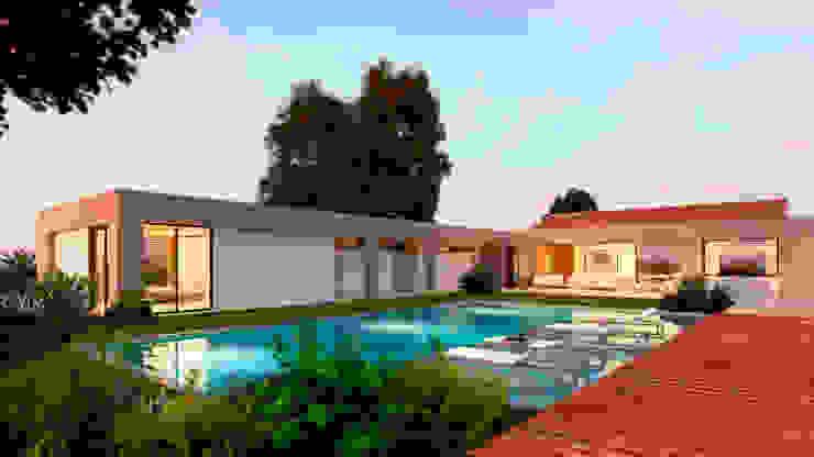 Casa La Morada HV Jardines de estilo moderno de COLECTIVO CREATIVO Moderno