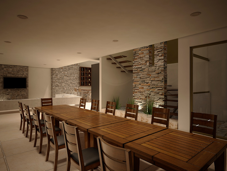 Modern dining room by Jeost Arquitectura Modern