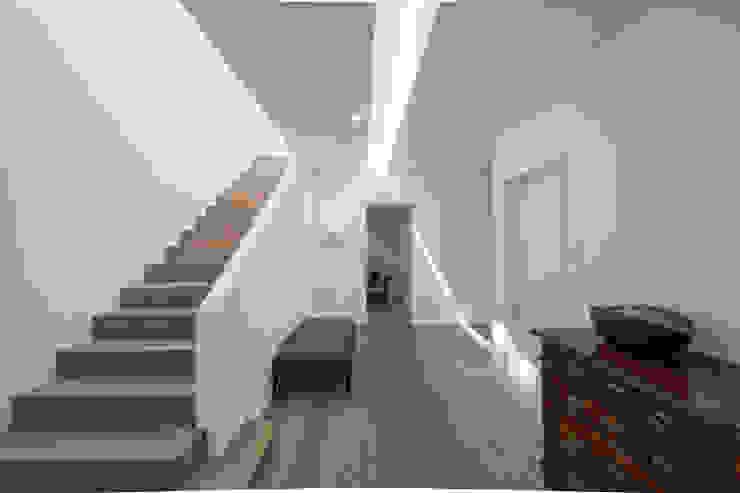 ห้องโถงทางเดินและบันไดสมัยใหม่ โดย KitzlingerHaus GmbH & Co. KG โมเดิร์น ไม้เอนจิเนียร์ Transparent