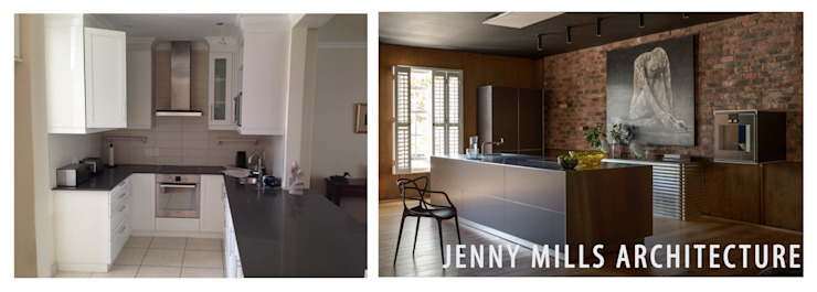 Kitchen Before and After Modern kitchen by Jenny Mills Architects Modern Bricks
