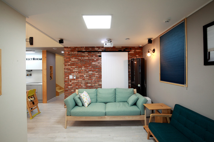 Salas / recibidores de estilo  por 주택설계전문 디자인그룹 홈스타일토토, Moderno