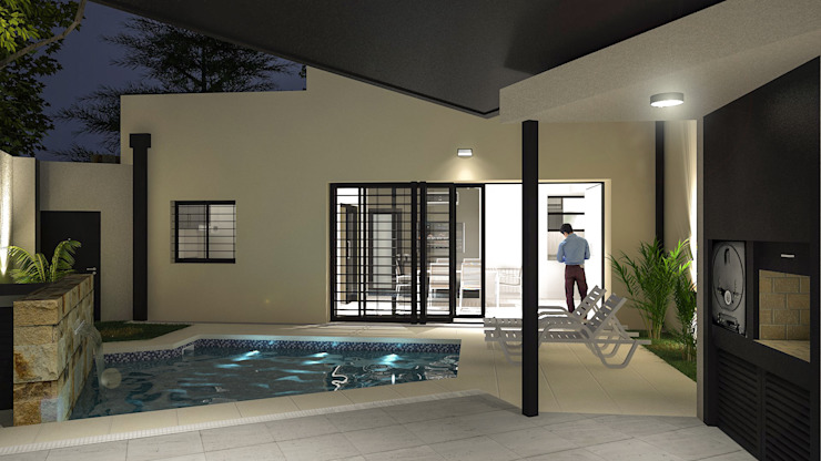 Modern Pool by homify Modern