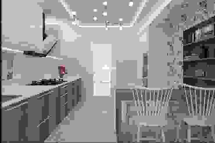 LBC İNŞAAT- AYDINLIKEVLER ÖRNEK DAİRE Modern Mutfak ESA PARK İÇ MİMARLIK Modern