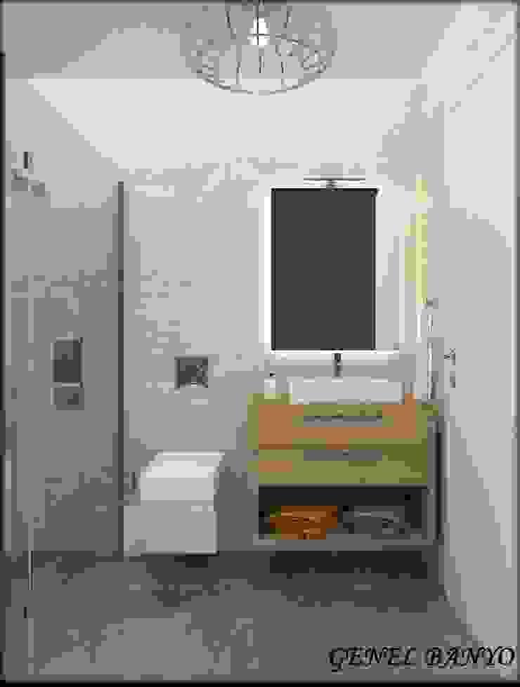 LBC İNŞAAT- AYDINLIKEVLER ÖRNEK DAİRE Modern Banyo ESA PARK İÇ MİMARLIK Modern